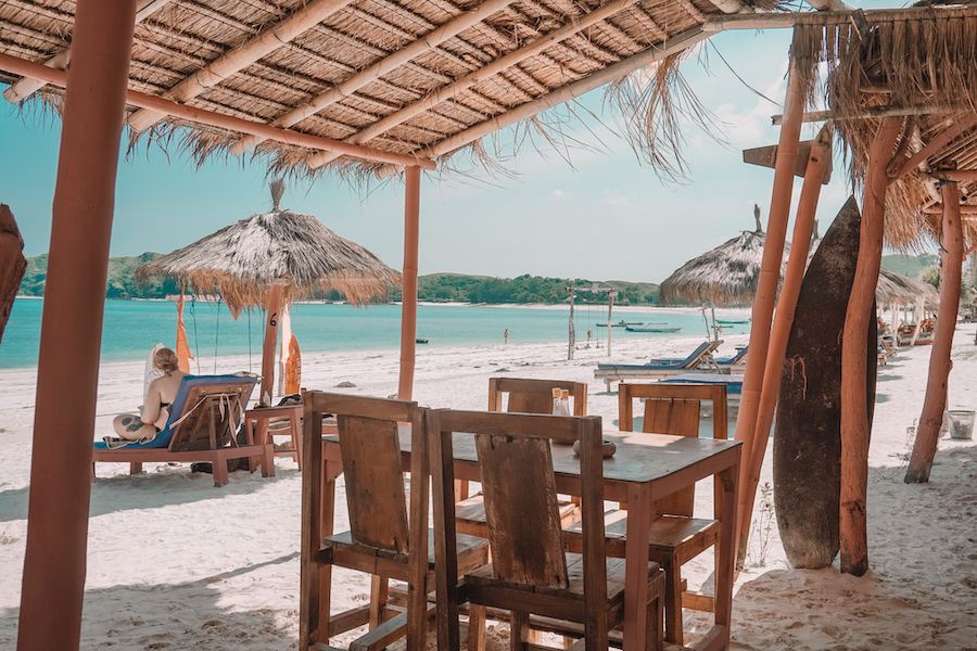 Pink swing cafe Tanjung Aan Beach