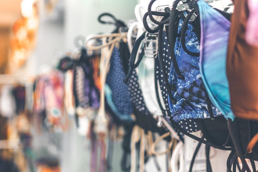 Store in Kuta Lombok selling swim suits