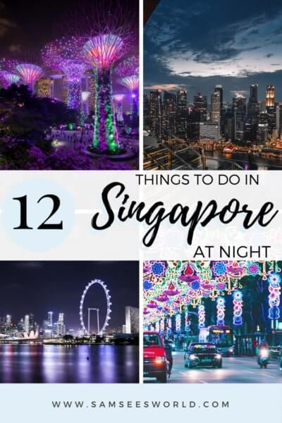 Things to do in Singapore at night pin
