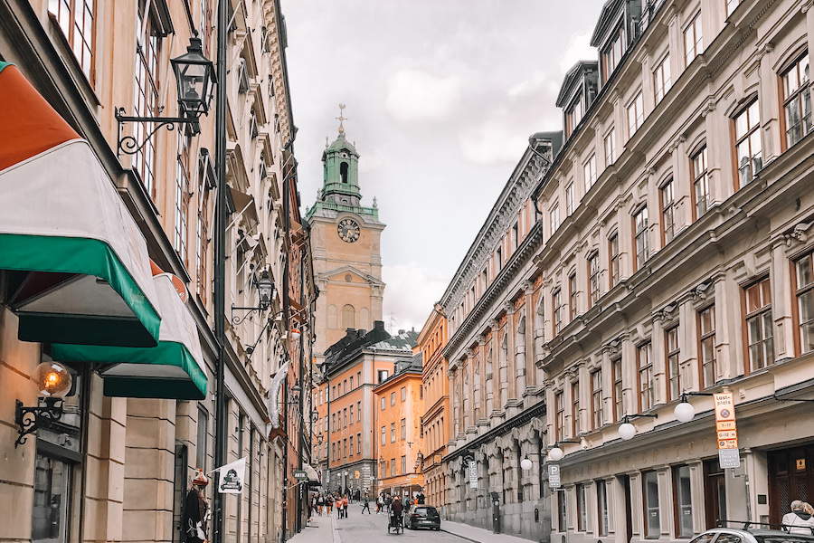 Street in Gamla Stan one of the most beautiful places to visit in Europe