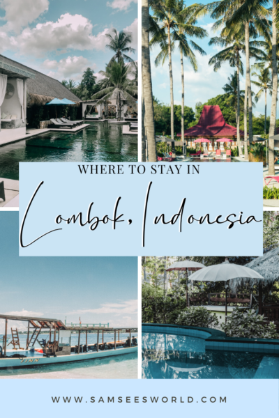 Where to stay in Lombok pin