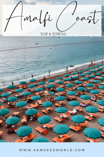 Amalfi Coast towns pin