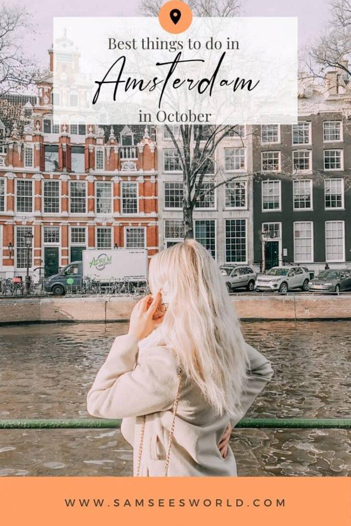 Amsterdam in October pin