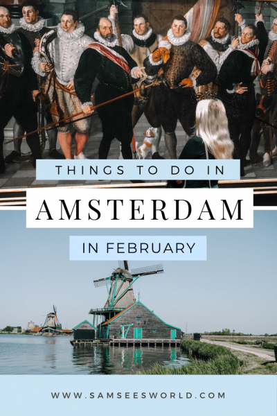 Amsterdam in February pin