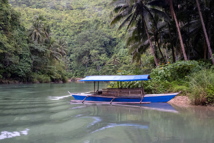 Boat on the water on Bohol Island