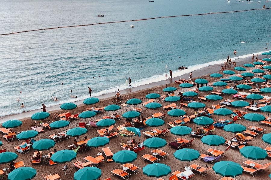Beach in Maiori, Italy