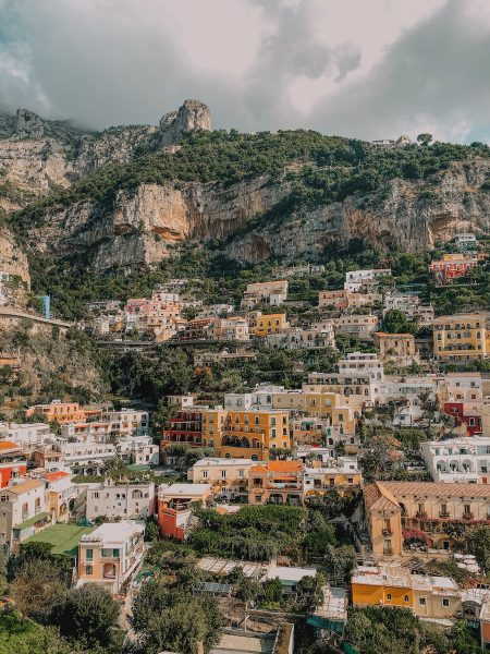 Positano, Italy hillside view