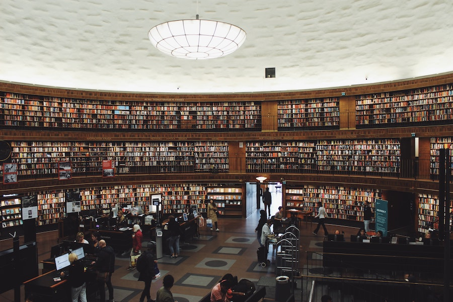 one day in Stockholm - The City Library in Stockholm
