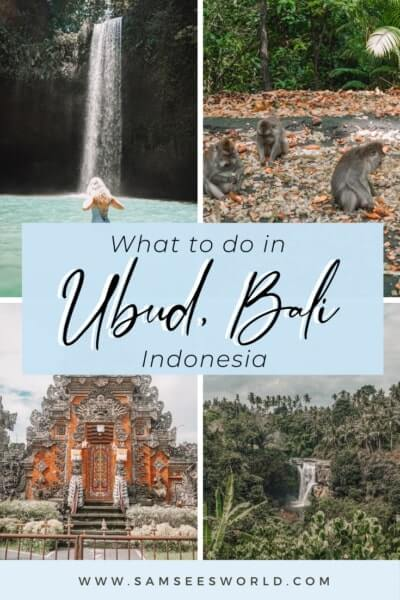Things to do in Ubud, Bali pin