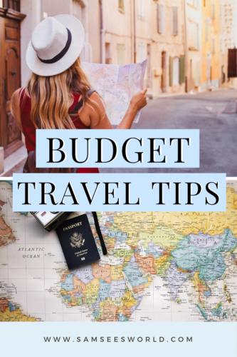 budget travel tips pin