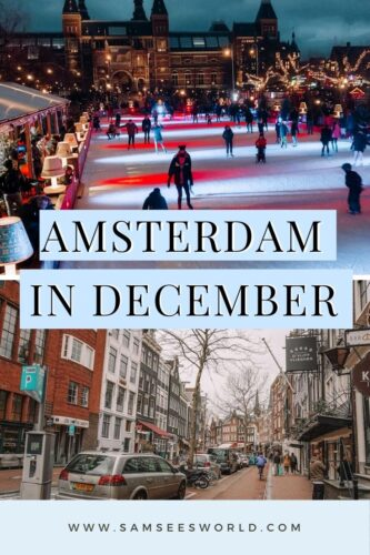 Amsterdam in December pin