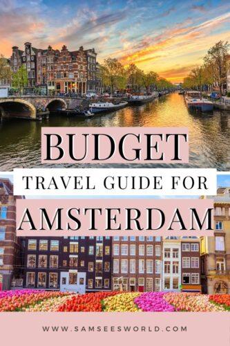Amsterdam on a budget pin