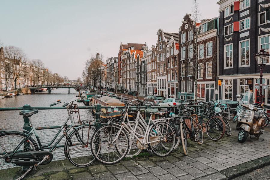 Amsterdam streets in December