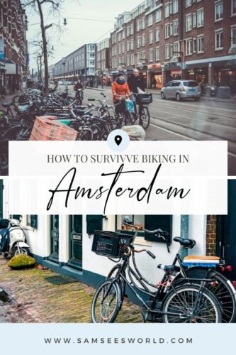biking in Amsterdam pin