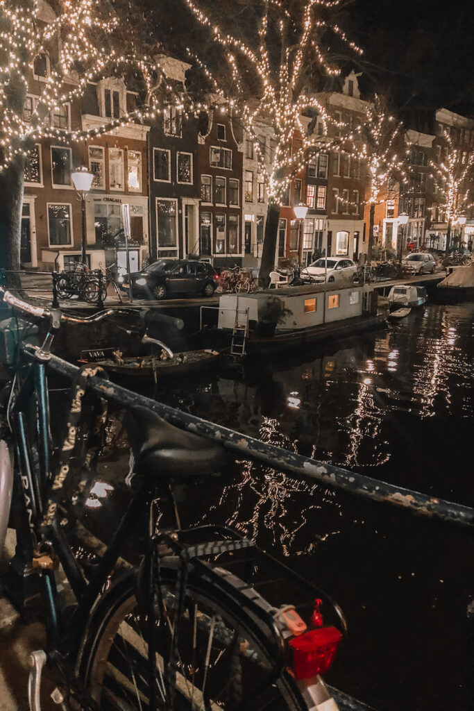 Amsterdam canals full of lights