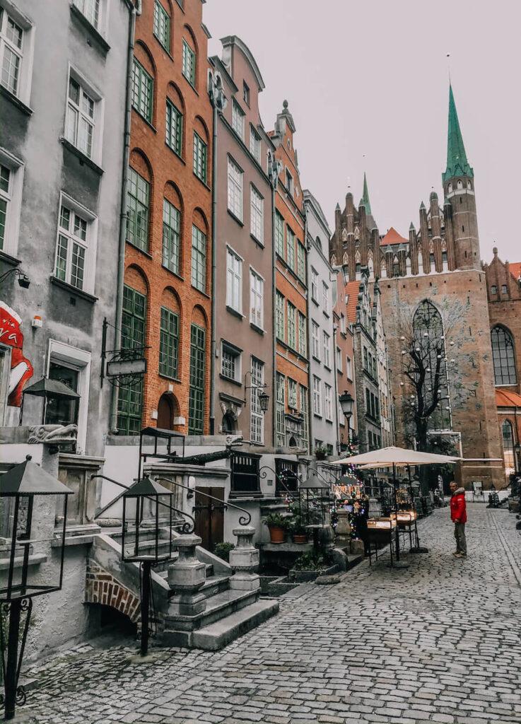 Street in Gdansk Poland