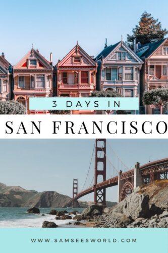 3 days in san Francisco pin