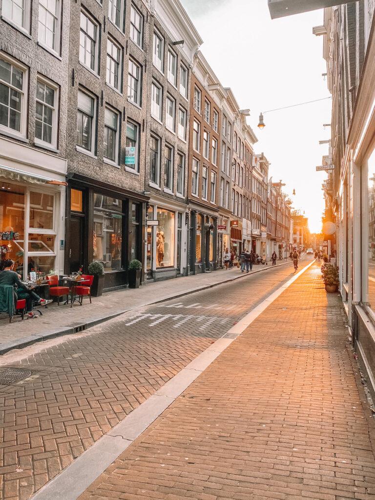 Empty street of Amsterdam