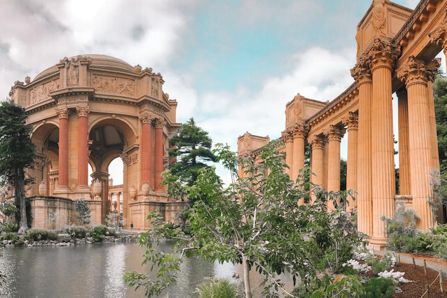 Old greek styled buildings