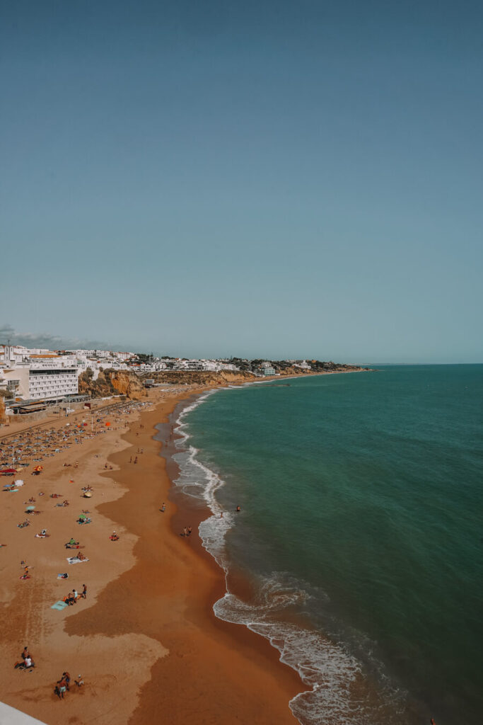 Things to do in Albufeira - coastal view of the beach