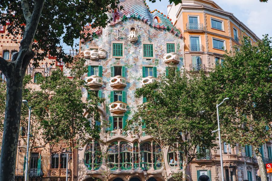 Colourful building Casa Batlo