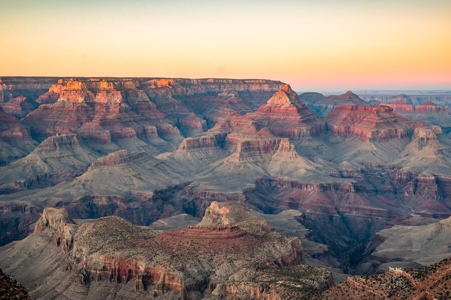 Grand canyon during sunrise