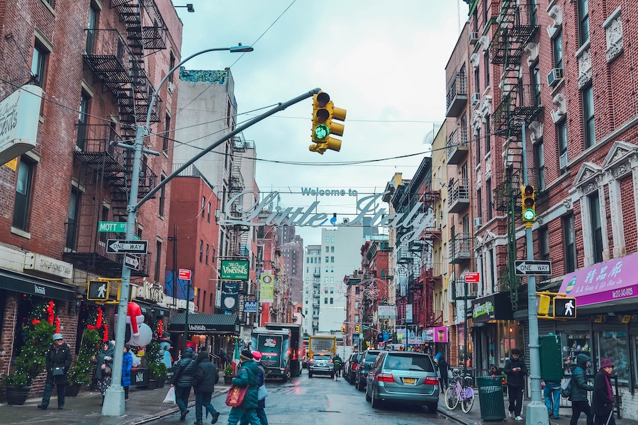 Little Italy street in NYC
