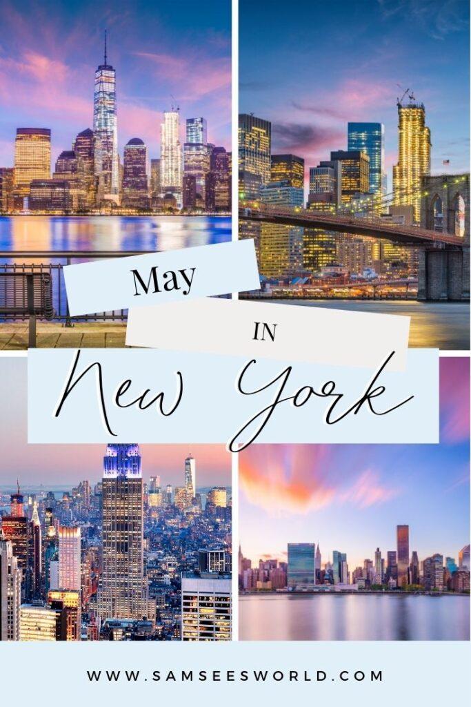 May in New York pin