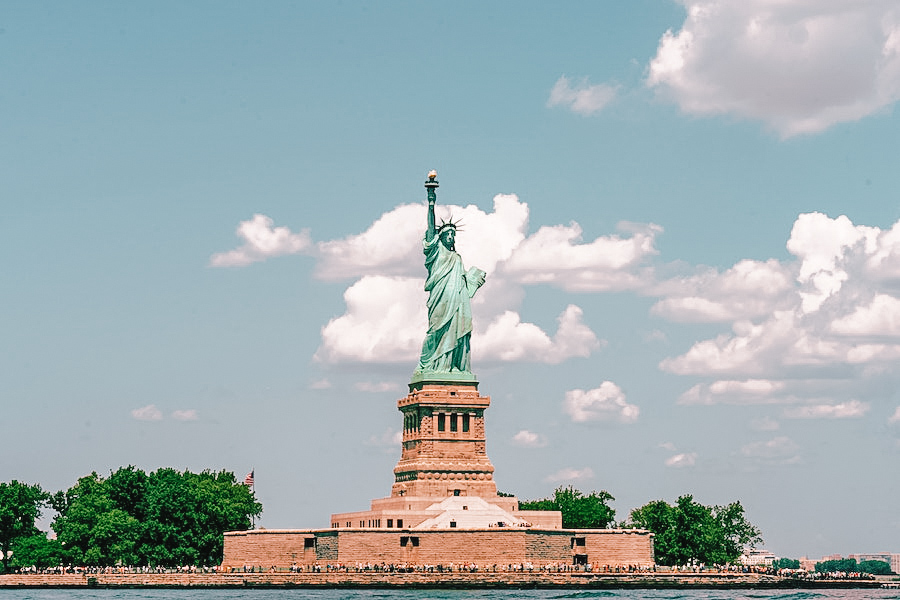 The Statue of Liberty from a distance