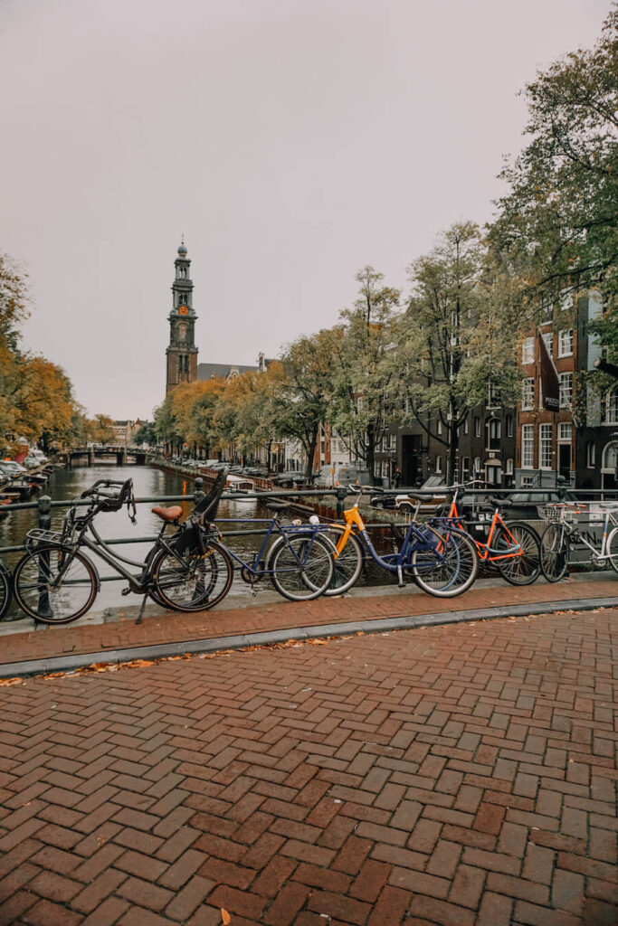 Streets of Amsterdam in autumn