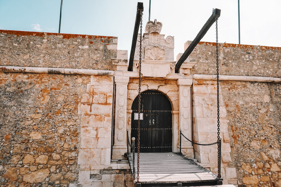 Stone fortress entrance