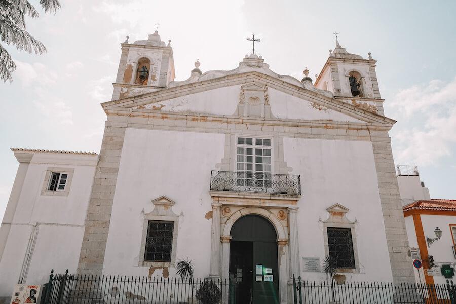 White coloured church