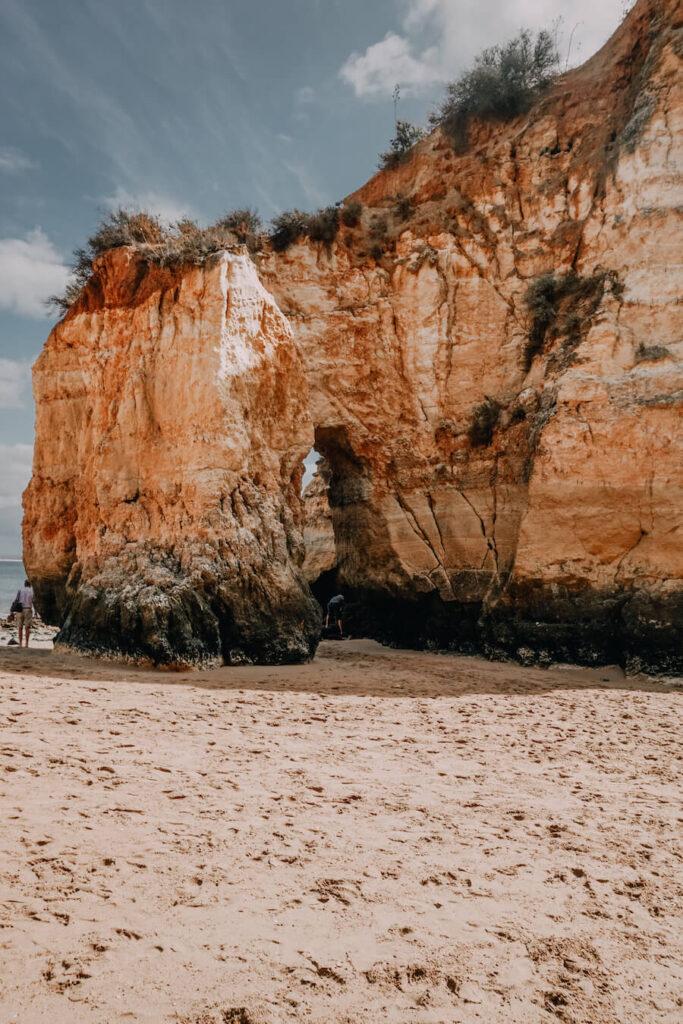 Huge orange coloured cliffs