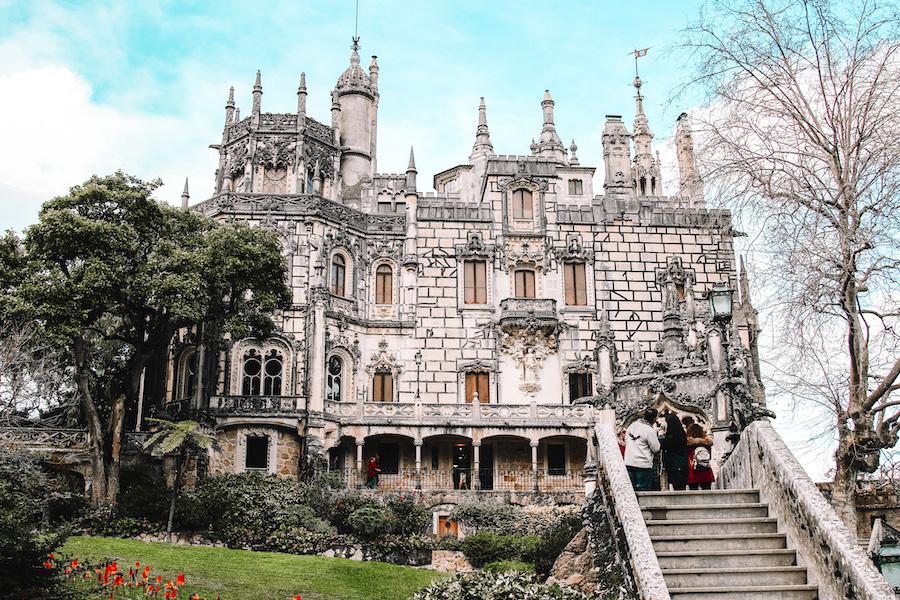 White stone castle