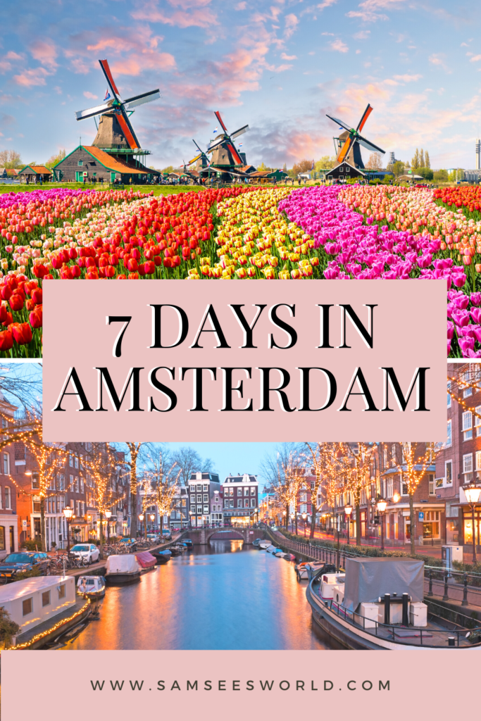 Amsterdam for a week pin