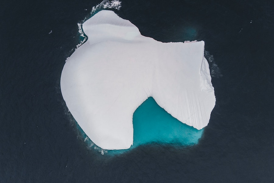 Iceberg in the middle of the water