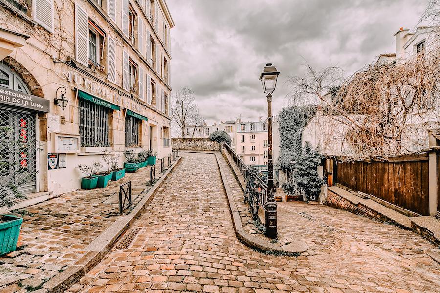 Charming cobble stone street