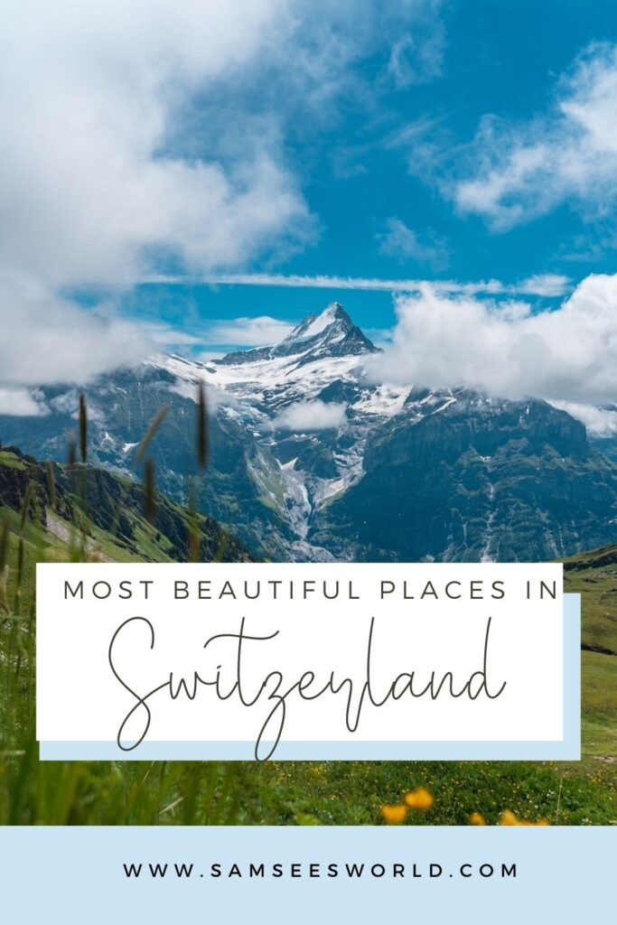 Most Beautiful Places in Switzerland pin