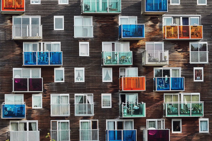 colourful apartment building