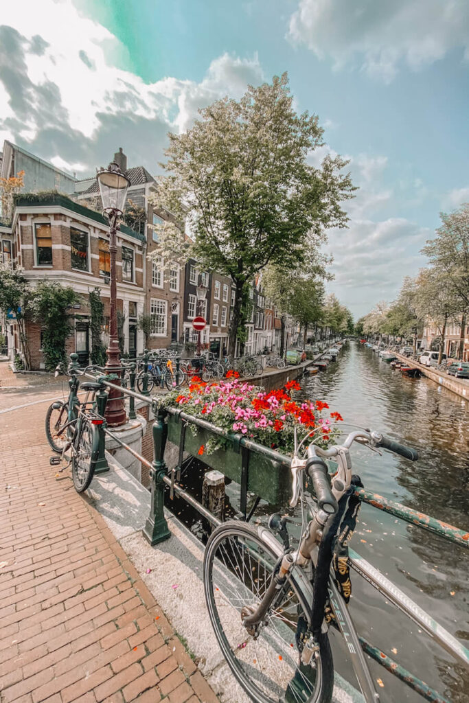 Canal with a bike