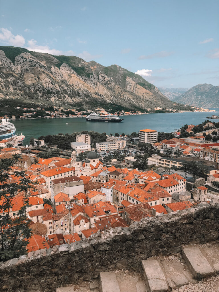 Kotor old town view