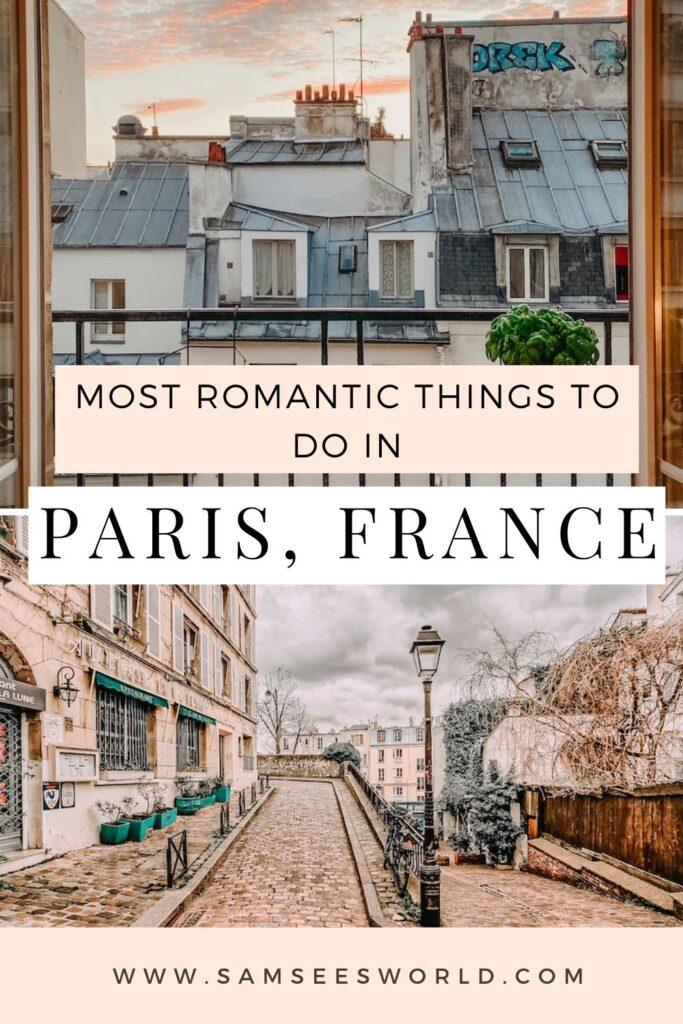 Romantic Things to do in Paris pin