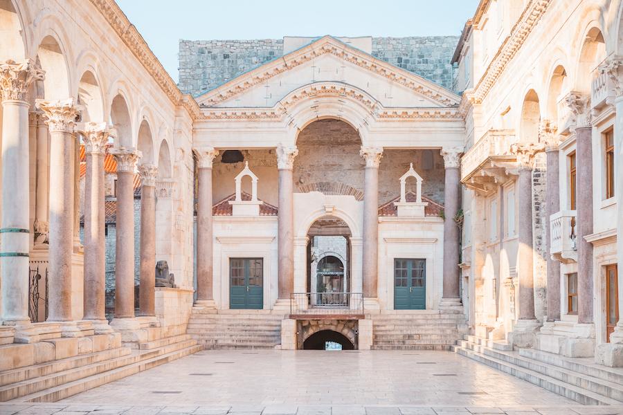 Stone palace in Split