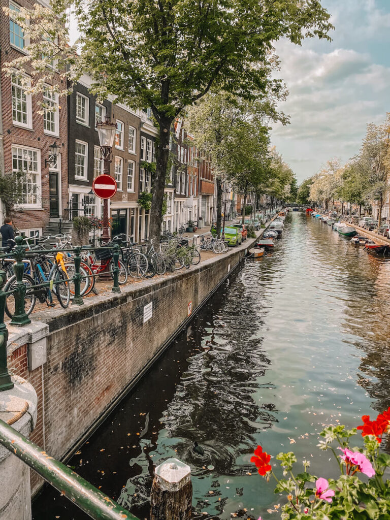 Street with canal view