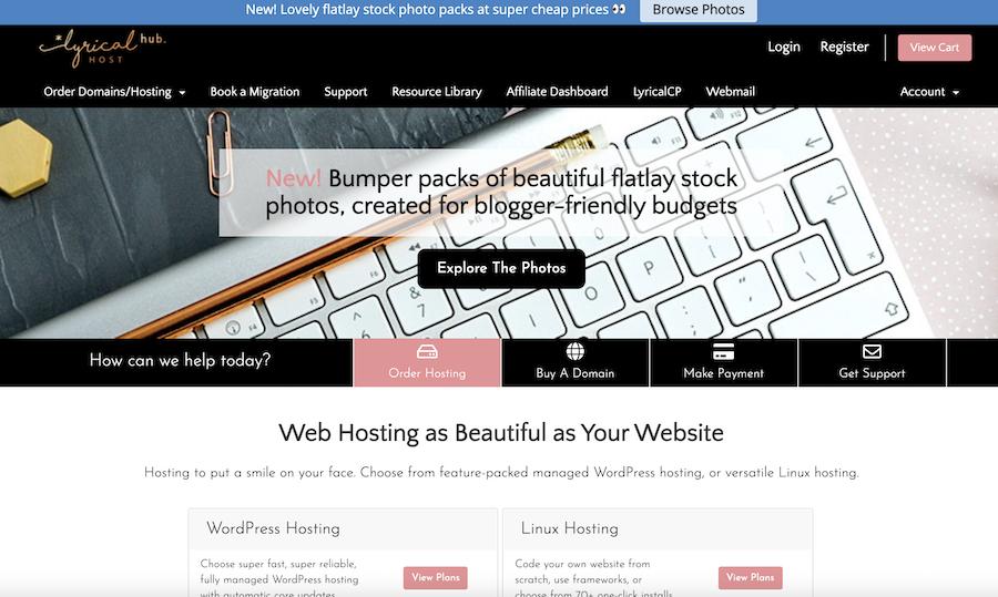 Lyrical Host home page screenshot