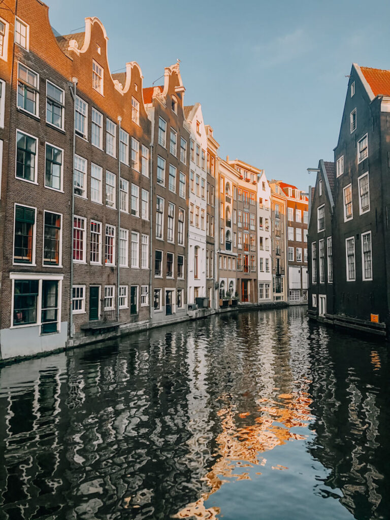 Unique houses sitting level with the water in Amsterdam