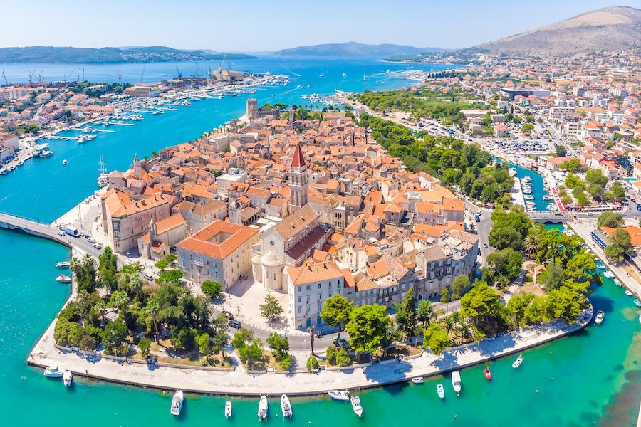 Ariel view of Trogir