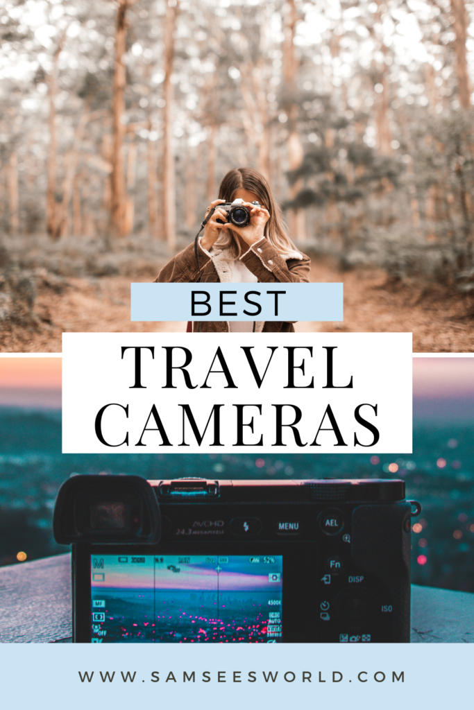 best travel cameras pin