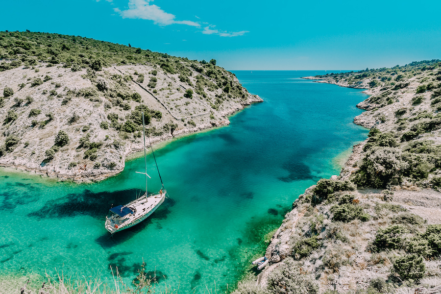 Ariel view of water in Split