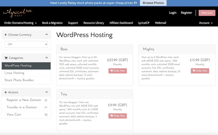 Lyrical host hosting screenshot